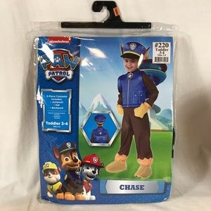 Paw Patrol Chase Toddler Costume Nickelodeon 3T-4T